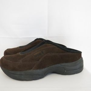 Ryka Women's 6M EU 37 Mules Brown Leather Suede